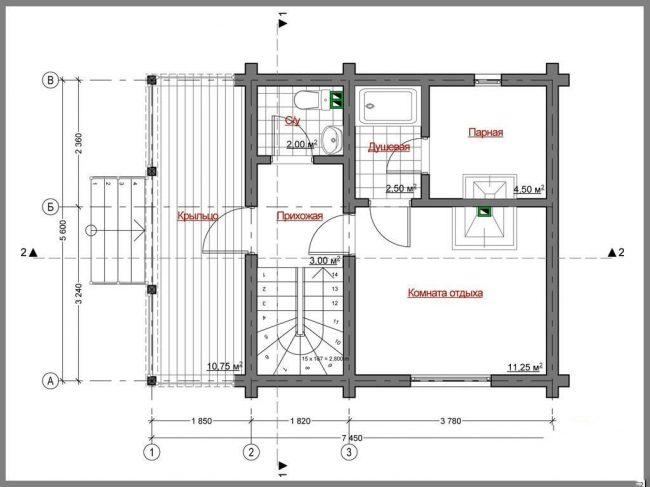 Дом из бревна-42