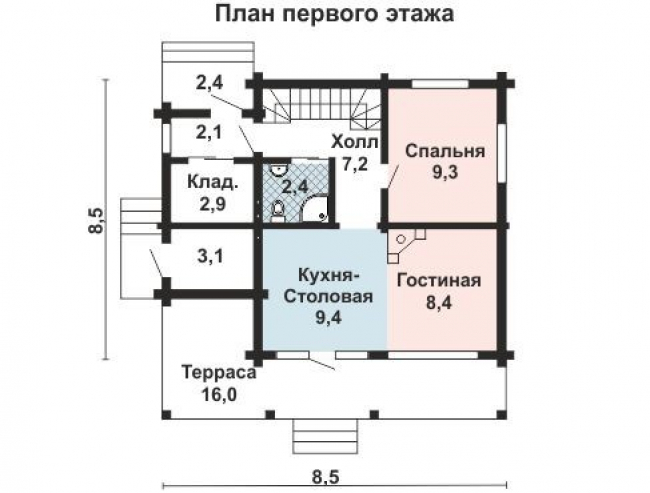 Дом из бруса-132