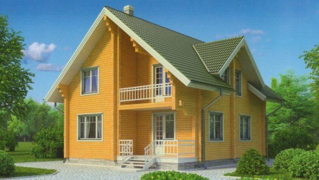 Дом из бруса-198