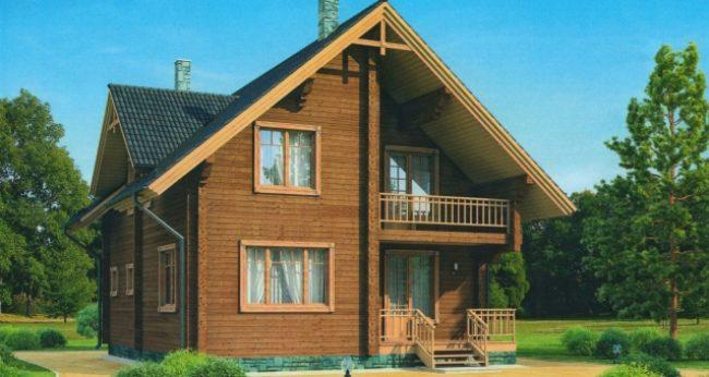 Дом из бруса-188