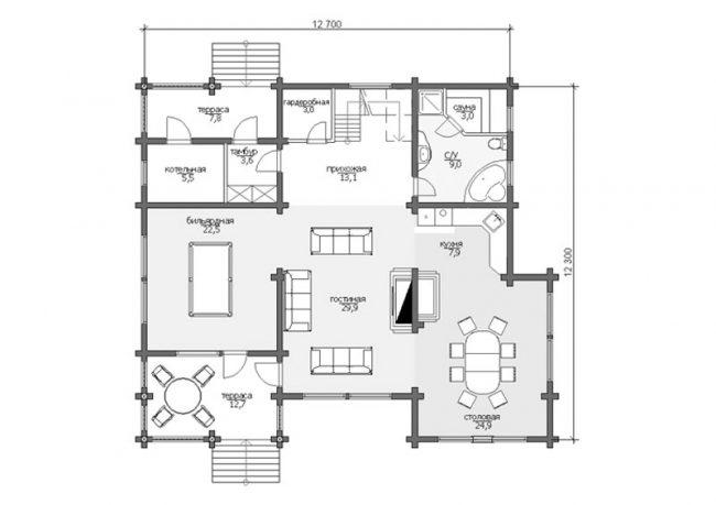 Дом из бревна-189