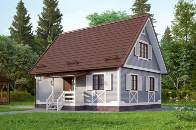 Дом из бруса-100