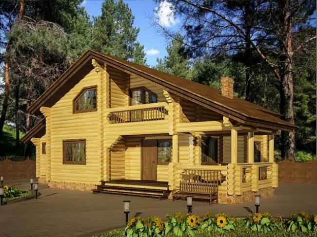 Дом из бревна-180