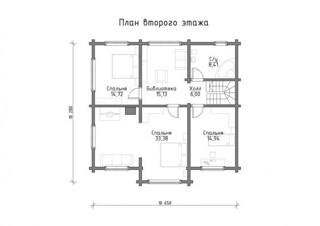 Дом из бруса-224