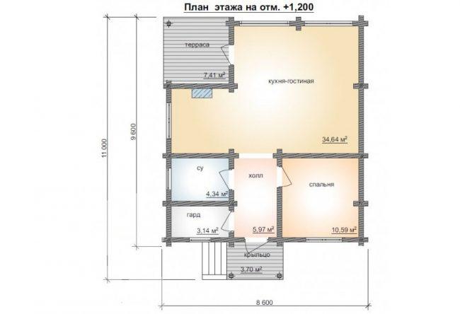 Дом из бруса-201