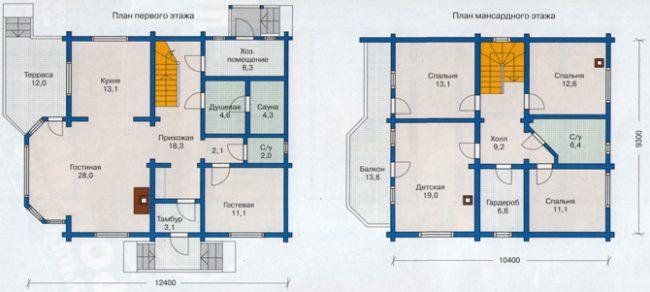 Дом из бруса-213