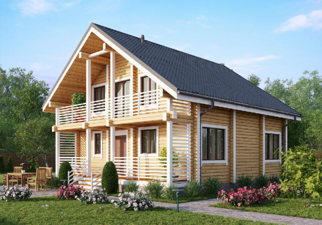 Дом из бруса-185