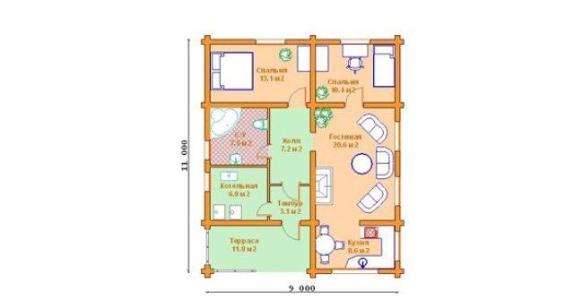 Дом из бревна-147