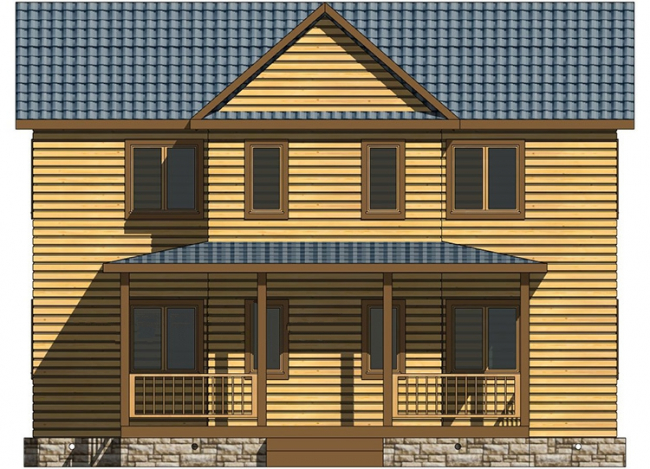 Дом из бруса-234