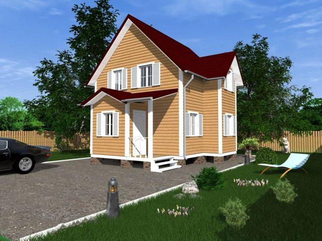 Дом из бруса-84