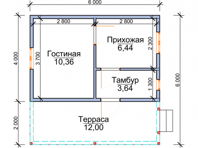 Дом из бруса-43