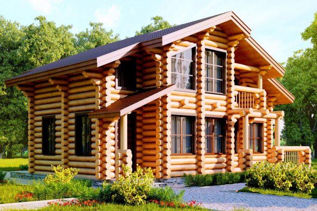 Дом из бревна-182