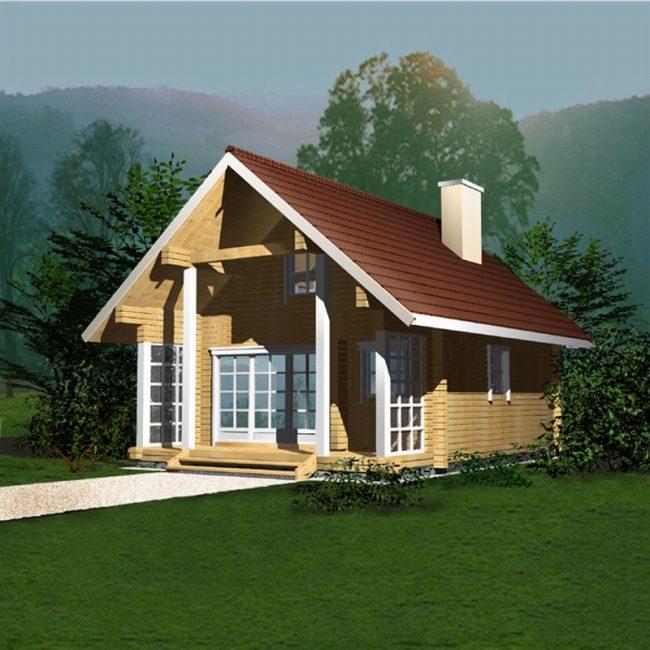 Дом из бревна-15