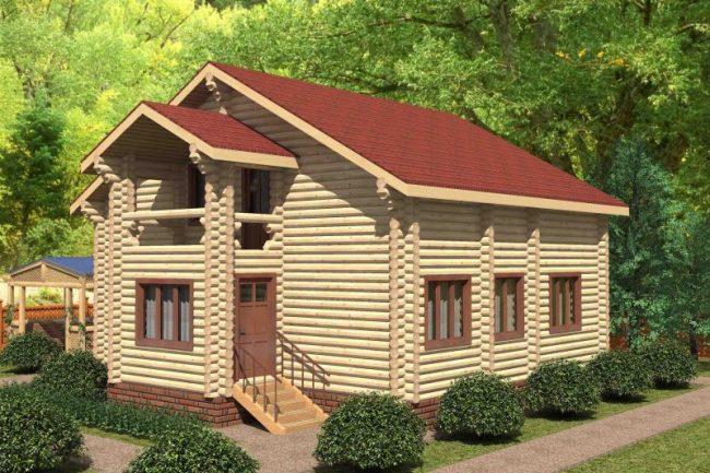 Дом из бревна-131