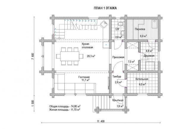 Дом из бруса-123
