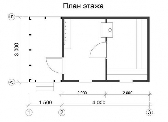 Сруб бани-6