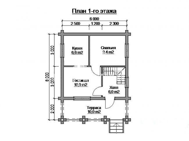 Дом из бревна-50