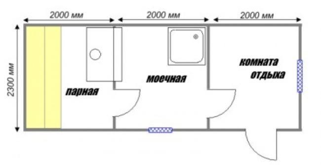 Сруб бани-29