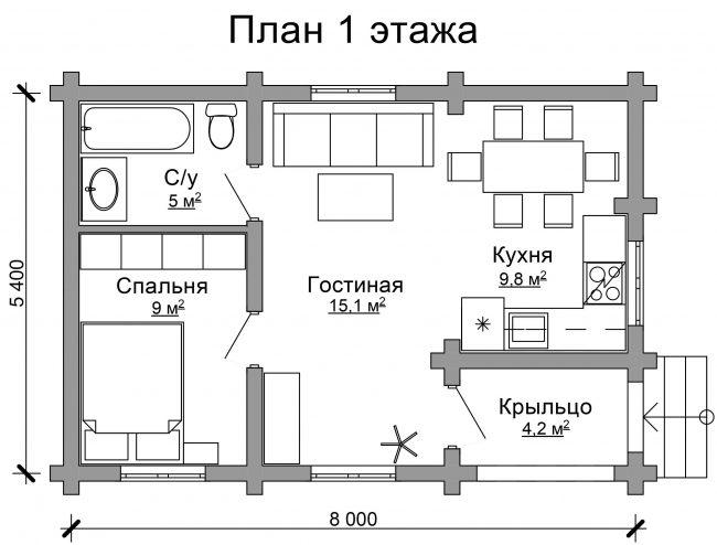 Дом из бревна-22