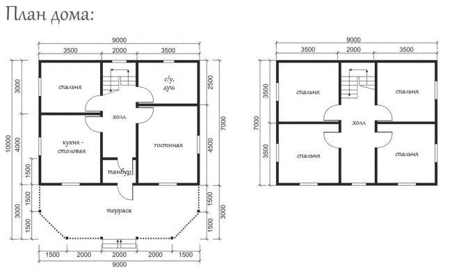 Дом из бруса-190
