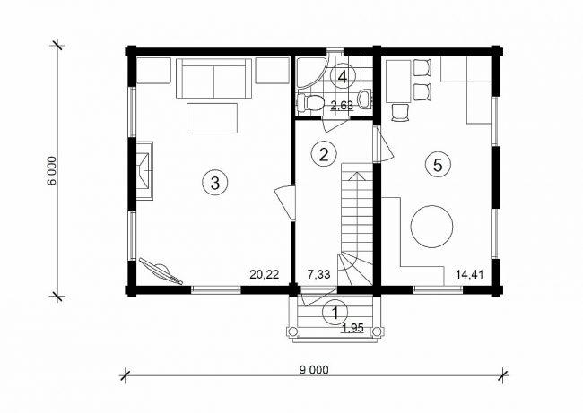 Дом из бревна-60