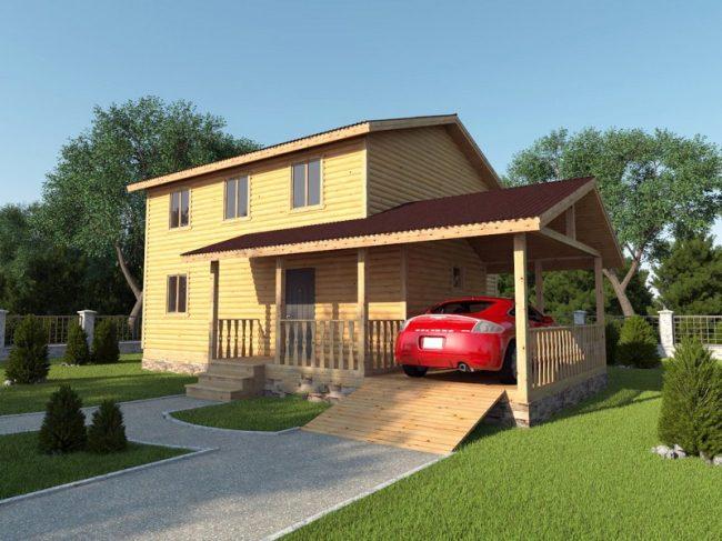 Дом из бруса-208