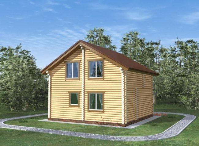 Дом из бревна-98