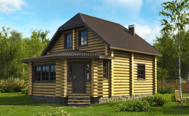 Дом из бревна-90