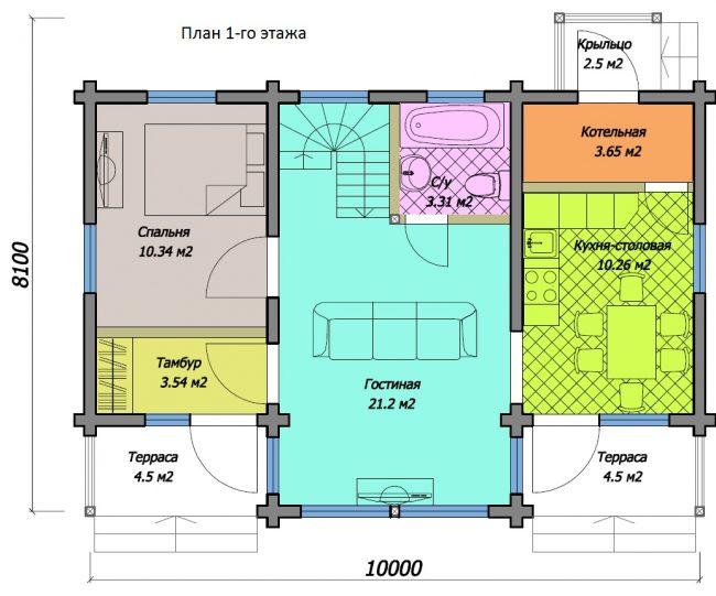 Дом из бруса-118