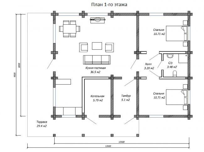 Дом из бруса-218