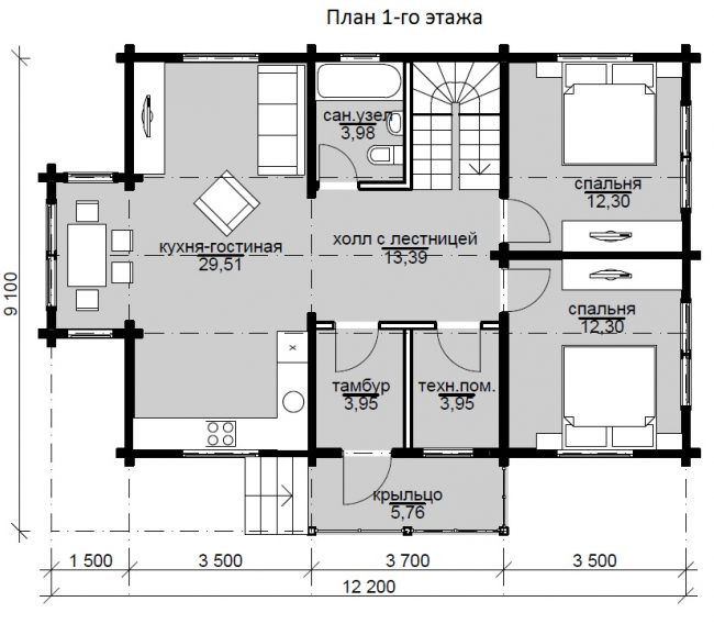 Дом из бруса-207