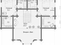 Дом из бруса-243