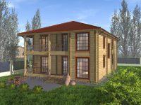 Дом из бруса-260
