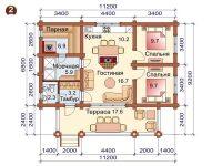 Дом из бревна-140