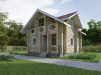 Дом из бревна-56