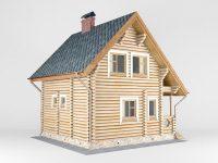 Дом из бревна-197