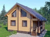 Дом из бревна-110