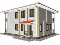 Дом из бруса-240