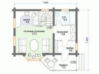 Дом из бревна-69