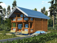 Дом из бревна-85