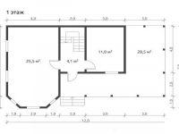 Дом из бруса-125