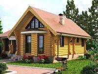 Дом из бревна-183