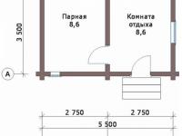 Сруб бани-18