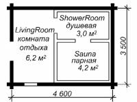 Сруб бани-17