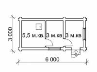 Сруб бани-25