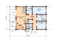 Дом из бруса-124