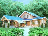Дом из бревна-196