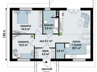Дом из бруса-172