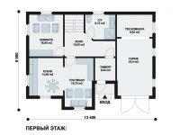Дом из бруса-215