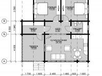 Дом из бруса-180